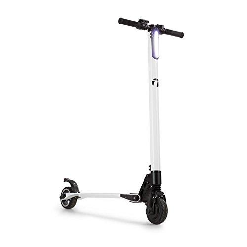 TAKIRA racing Sc8ter • Elektro-Scooter • Elektroroller • E-Scooter • Easy-Fold-Funktion • LED-Scheinwerfer • 250 W • bis 22 km/h • 5 Geschwindigkeitsstufen • max. 120 kg • Carbonkonstruktion • weiß