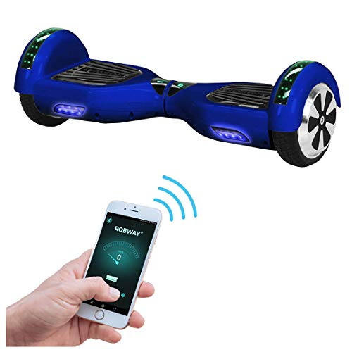 Robway W1 Hoverboard - Das Original - Samsung Marken Akku - Self Balance - 22 Farben - Bluetooth - 2 x 350 Watt Motoren – App - LED