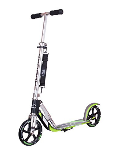 HUDORA Big Wheel Scooter 205 - Das Original, Tret-Roller klappbar - City-Scooter - 14695, schwarz/grün