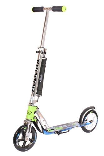 HUDORA Big Wheel Scooter 205 - Das Original, Tret-Roller klappbar - City-Scooter - 14750, grün/blau