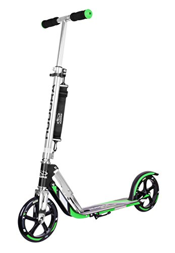 HUDORA Big Wheel Scooter 205 - Das Original, Tret-Roller klappbar - City-Scooter - 14708, grün/schwarz