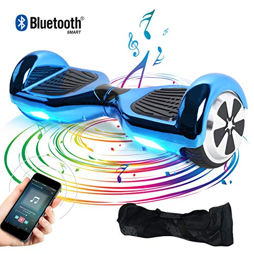 Windgoo Hoverboard, 6.5 Zoll Self Balance Scooter mit Bluetooth Lautsprecher, LED Lights Elektro Scooter E-Skateboard